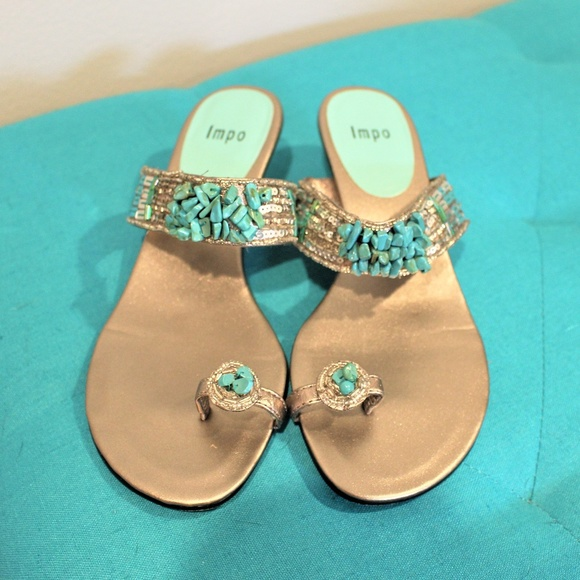 b2b484fd4 Impo Shoes - Impo Beaded Silver sandals size 6
